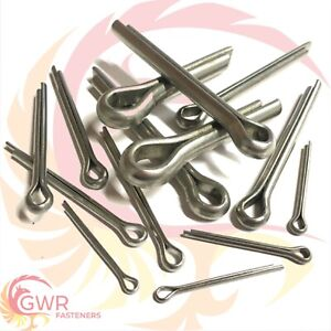 1mm up to 10mm Cotter Split Pins - A2 Stainless Steel - DIN 94 Clevis Pin Metric