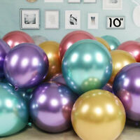 "10/50 CHROME BALLOONS METALLIC LATEX PEARL 10""  Helium Baloon Birthday Party"