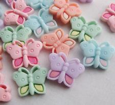20pcs Cute Butterfly Resin Flatback Button DIY Scrapbooking Appliques JCN033