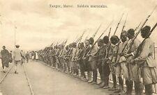 CPA MAROC TANGER SOLDATS MAROCAINS