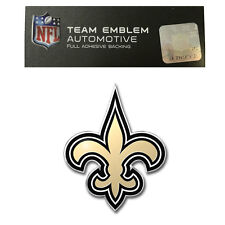 Promark New NFL New Orleans Saints Color Aluminum 3-D Auto Emblem Sticker Decal