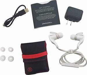 Plantronics BackBeat Go 2 White Stereo Bluetooth Headphones + Charging Case New