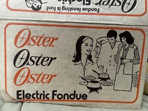 Vintage Oster Electric Fondue Variable Heat Yellow 70s Tested Harvest Gold 691