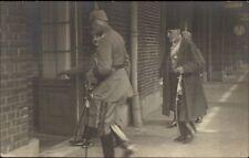 WWI German Officer Hun Helmet & Turkey/Turkish Leader SPA BELGIUM RPPC dcn