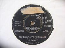 "THE ANIMALS - THE HOUSE OF THE RISING SUN  ORIGINAL COLUMBIA 7"" SINGLE"