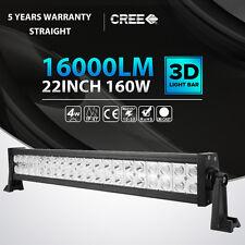 "22""inch 160W LED Work Light Bar Flood Spot Offroad SUV ATV Boat Driving 23"" 24"""