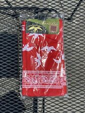 New 12 Pack Cotton Bandanas - Red & White - Duck Commander