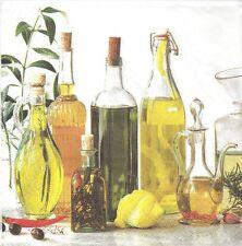 2 Serviettes en papier Huile d'Olive Decoupage Paper Napkins Olive Oil