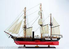 "USS Susquehanna Sidewheel Steam Frigate Sailing Ship 38"" Wooden Model"