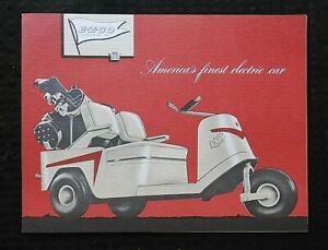 c1955 CLUB CAR E-Z-GO GOLF CART BROCHURE PRE TEXTRON AUGUSTA GA GEORGIA BROCHURE