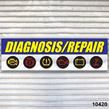Diagnosis Repair Banner Sign Auto Repair Tire Dealer Service Bay Garage