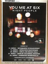 YOU ME AT SIX  2017  TOUR  ++ orig.Concert Poster ++ Konzert Plakat  A1 NEU