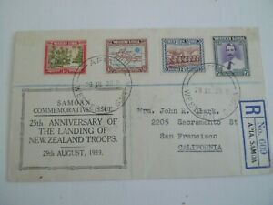 SAMOA 1939 FDC 25TH ANNIVERSARY LANDING NEW ZEALAND TROOPS MAILED TO CALIFORNIA