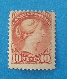 Canada Scott #40 MH good original gum. Clean good bright colors, good perfs.