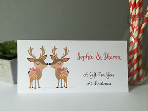 Personalised Christmas Money Gift Card Voucher Wallet Girlfriend Couple