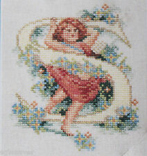 Lanarte Holland Letter S Initial Little Girl Cross Stitch Kit  No. 33979