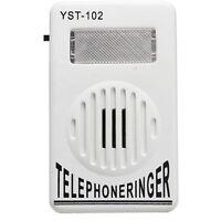 Cell Phone Ringer up to 95dB w/ Strobe Light Flasher Extra-Loud Ringer Bell