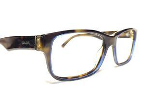 Prada VPR16M ZXH-1O1 Unisex Tortoise & Blue Rx Eyeglasses Frames 55/16~140