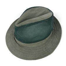 Stetson Hat Mens Medium Insect Shield Short Brim Safari Hat Green Made In USA