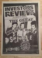 Sex Pistols Great rock n roll 1979 press advert full page 28 x 40 cm mini poster