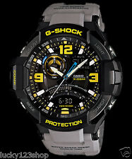 GA-1000-8A Yellow Gray Casio Men's Watches G-Shock Compass 200M Resin Band New