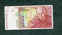 BILLETE  2000 pesetas 1992 serie 9C 9 C 3728299  EBC
