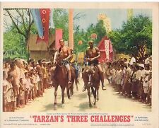 JOCK MAHONEY TARZAN'S THREE CHALLENGES  ORIGINAL 11X14 LOBBY CARD
