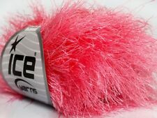 38Yd Petal Pink Extra Long Eyelash Yarn #42076 Ice Bulky Luxurious Longer Lashes