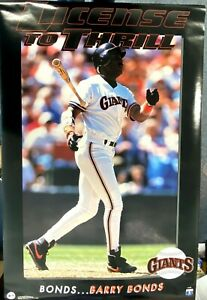 """Barry Bonds Giants License to Thrill 1993 Costacos Bros. Poster (35""""x23"""")"""