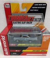 Auto World ThunderJet 1959 Chevy IMPALA HO Scale Electric Slot Racer Car Lt Blue