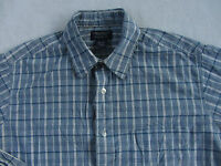 American Eagle Men's Long Sleeve Button Down Dress Shirt - Blue Plaid - Size XS