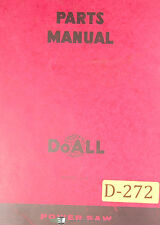 Doall C-12, Power Saw, Parts List and Drawings Manual 1968