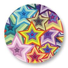 Magnet Aimant Frigo Ø38mm Motif Pattern Etoile Star Arc En Ciel Rainbow