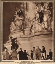 CORONATION 1937. People on Victoria memorial. Police getting them down 1937
