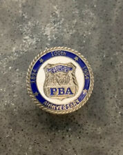1994 100th Anniversary NYPD RETIRED MINI PBA SHIELD BADGE PIN, PINBACK LAPEL PIN