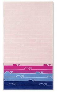 NWOT VINEYARD VINES For Target Whale Line Beach Towel in Blue/Pink Beach Pool