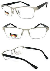 Metal Frame Progressive Reading Glasses 3 Power Strengths in 1 Reader Half Rim