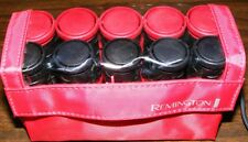 REMINGTON-ALL THAT! H-1015 DUAL VOLTAGE 120-240VAC RED BLACK HOT CURLERS w/CLIPS