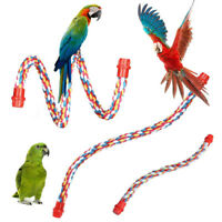 EE_ Pet Bird Parrot Parakeet Cotton Rope Coil Cage Decor Stand Perch Chewing Toy