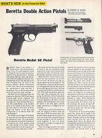 1977 Beretta Double Action Pistol Model 92, 81/84 & 1000 4-pg Evaluation Article