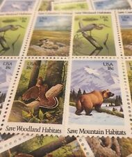 20 Vintage Animal Habitat Stamps For Holiday, Wedding And Valentine Mail