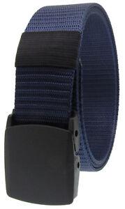 Outdoor Military Grade Tactical Nylon Waistband Canvas Web Belt Plastic Buckle