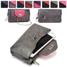 Womens Fashion Smart-Phone Wallet Case Cover & Crossbody Purse EI64-38