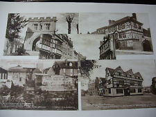 "Lot002z - c1910 - 5 x TEWKESBURY ""Mallet"" POSTCARD Exc Condition JOHN HALIFAX"