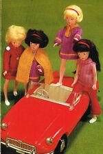 "12"" Dolls clothes knitting pattern . Laminated copy. (V Doll 123)"