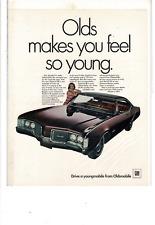 1968 OLDSMOBILE DELMONT 88 350CI ROCKET V-8 ENGINE YOUNGMOBILE AD PRINT I205