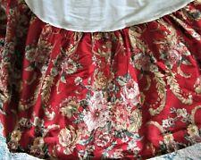 Ralph Lauren Marseilles Floral Red Twin Size Bedskirt Bed Ruffle Super Nice