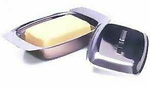 Stainless Steel Butter Dish Tray 18/8 With Lid Kitchen Storage Container Holder