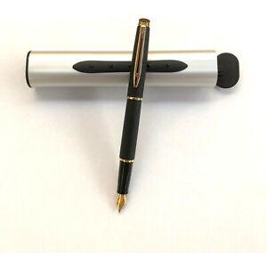 Füller WATERMAN Hemisphere Black GT mit Diamant Gravur auf Füller UND Box !