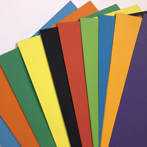 A4 Mixed Coloured Card Intensive Colour Mix 20 Sheets 180gsm 10 Colours Printer